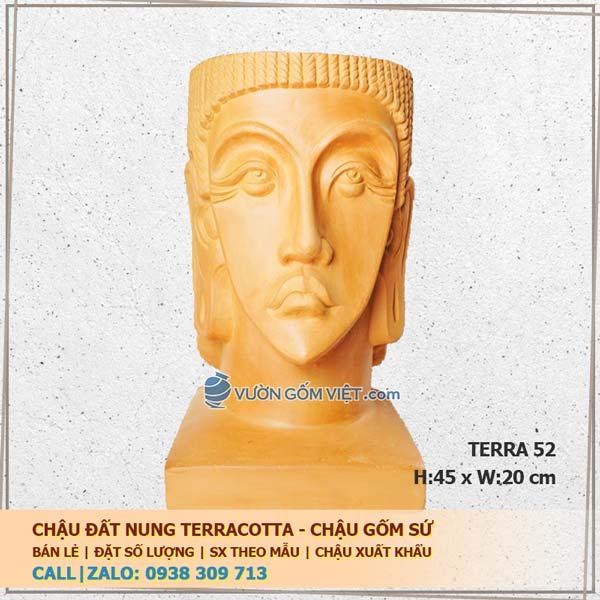Chậu gốm Terracotta nghệ thuật 52