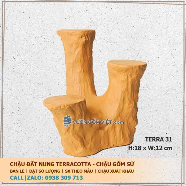 Đế đôn chậu cây đất nung terracotta 31