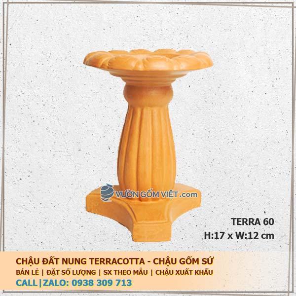 Đế đôn chậu cây đất nung terracotta