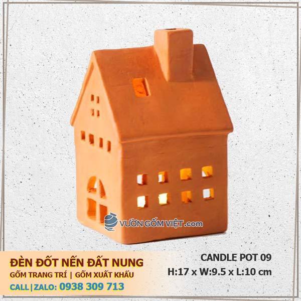 Đèn nến trang trí ngôi nhà 09 Đèn đốt nến Terracotta