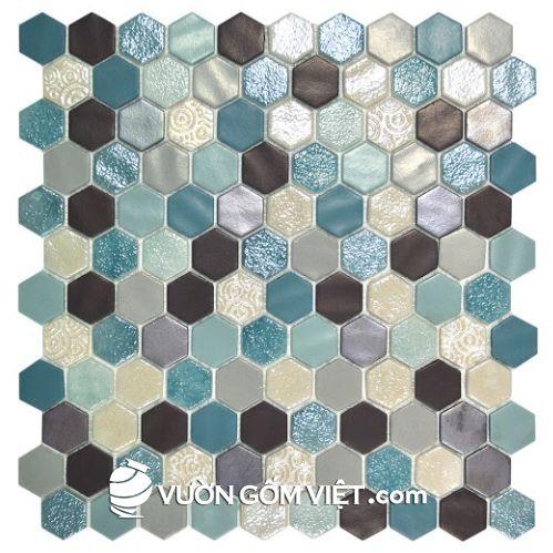 Gạch gốm mosaic lục giác 01