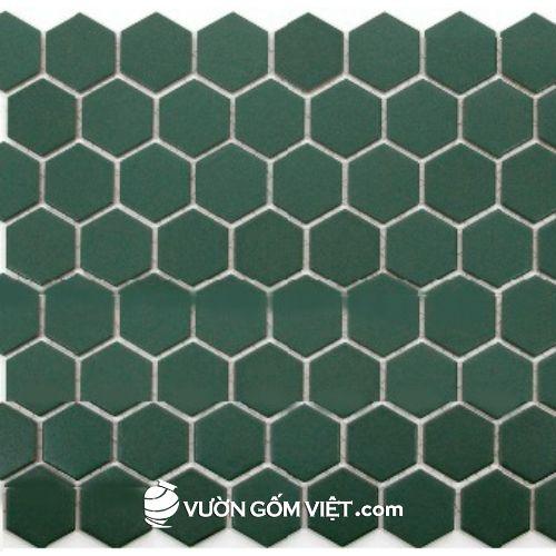 Gạch gốm mosaic lục giác 02