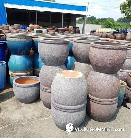 Vườn Gốm Việt - sản xuất và cung cấp chậu men gốm sứ cho công trình
