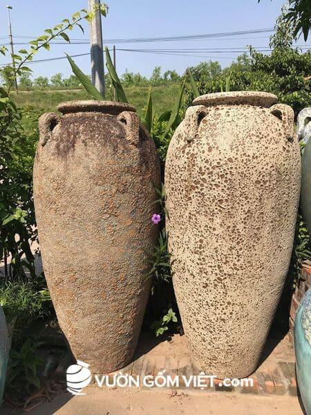 Cung cấp chậu gốm sứ trang trí cho công trình cảnh quan sân vườn