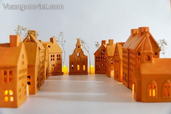 Đèn nến đất nung Terracotta
