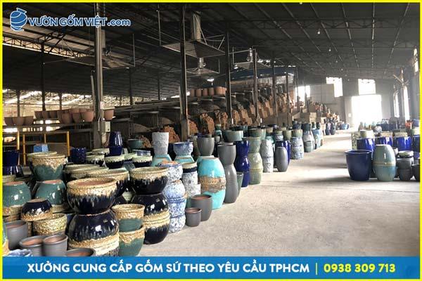 Địa chỉ công ty sản xuất gốm sứ tại bình dương, chậu gốm xuất khẩu