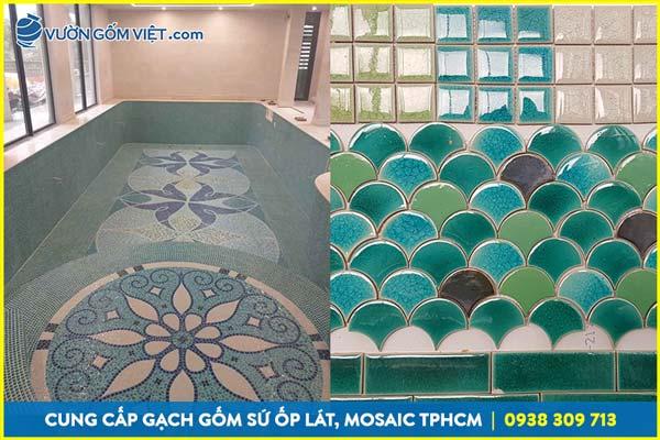 Địa chỉ cung cấp gạch mosaic ốp tường, gạch ốp bếp, gạch bể bơi
