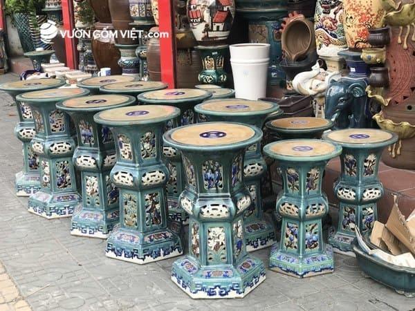 Các loại đôn gốm tráng men cao cấp có tại Vườn Gốm Việt