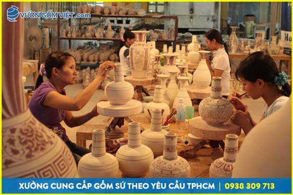 Khám phá quy trình sản xuất gốm sứ Bát Tràng