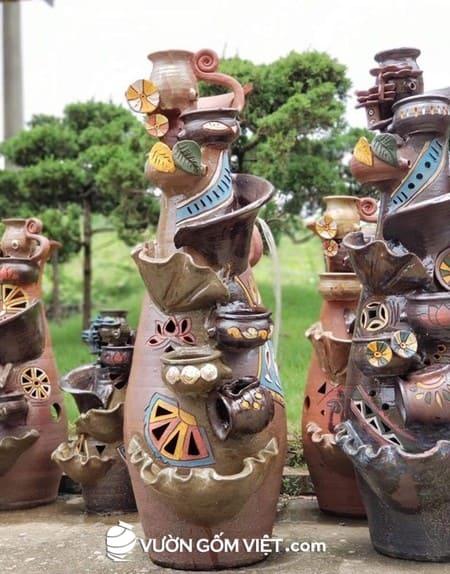 Đài phun nước gốm sứ, thác nước gốm sứ