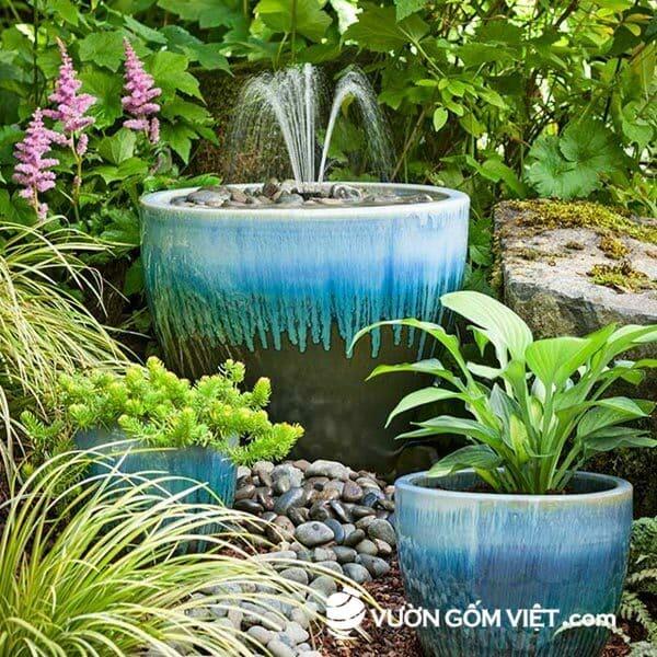 Vườn Gốm Việt chuyên cung cấp chậu cây gốm sứ trang trí nhà ở , sân vườn