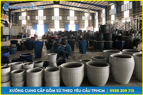 Xưởng sản xuất chậu gốm tại Tphcm, cung cấp chậu trồng cây giá sỉ