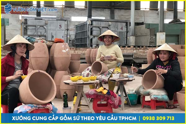 Xưởng sản xuất gốm Bát Tràng tại Tphcm, cung cấp đồ gốm giá sỉ