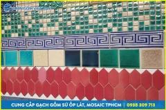 Xưởng sản xuất gạch mosaic Bát Tràng, gạch ốp tường độc đáo